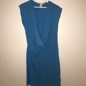 Blue Low Neck Mini Dress